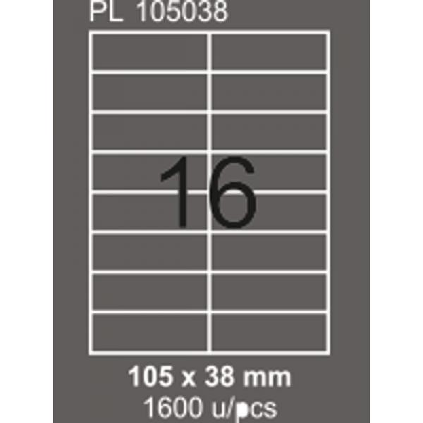 Lazer Etiket 105 mm x 38 mm 16 lı